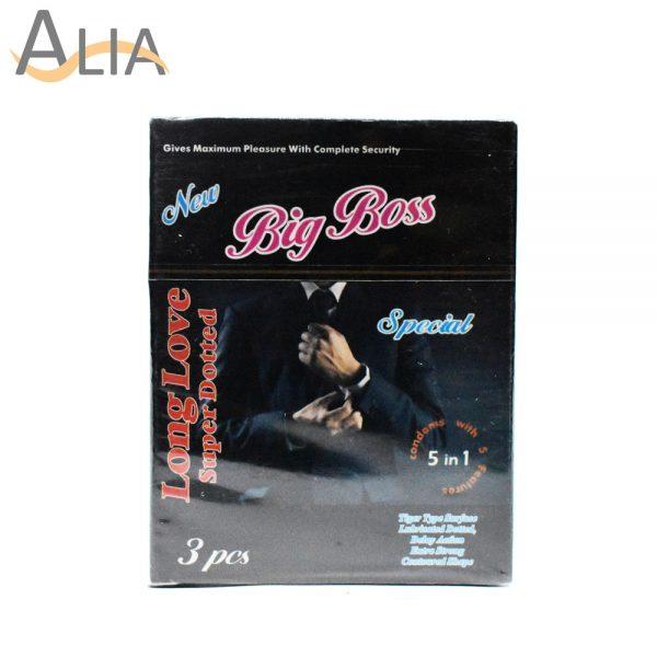 Big boss long love super dotted condoms (3 pcs)