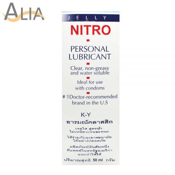 Nitro cosmetics k.y gel personal lubricant 50ml.