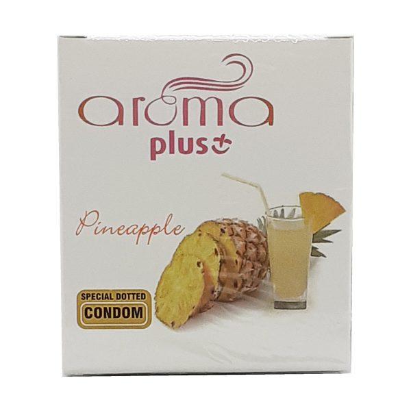 Aroma Plus Special Dotted Condoms Pineapple Flavor 3 Pieces