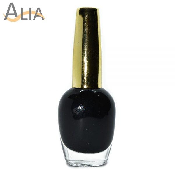 Genny nail polish (378) black color.