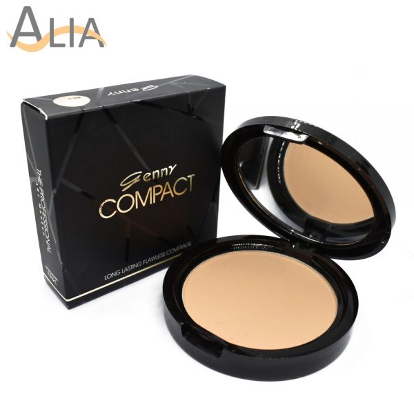 Genny compact powder long lasting flawless coverage (ivory)