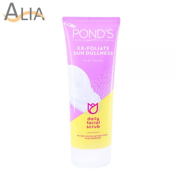 Ponds exfoliate sun dullness daily facial scrub (100g)
