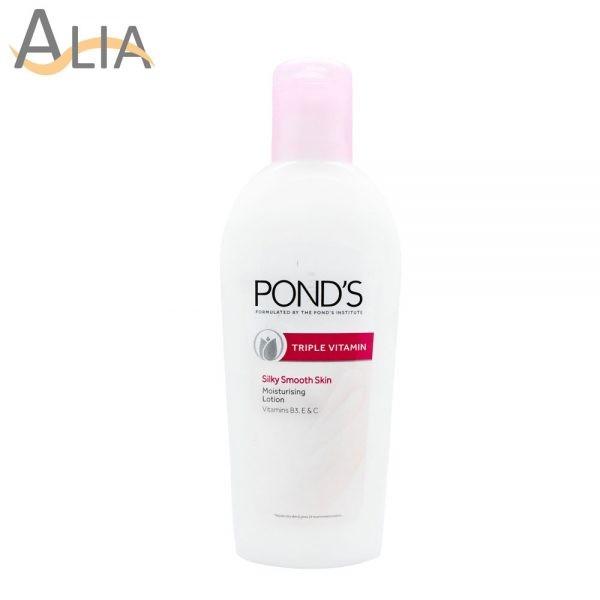 Ponds triple vitamin silky smooth skin moisturising lotion (100ml)