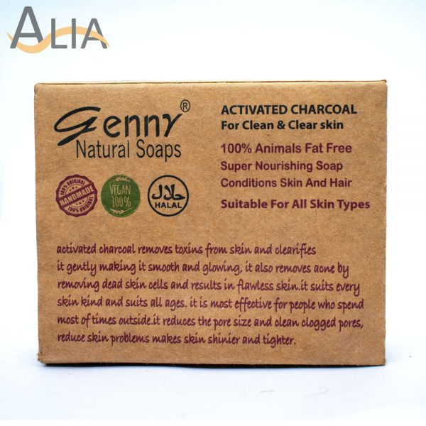 Genny natural activated charcoal for clean & clear skin.