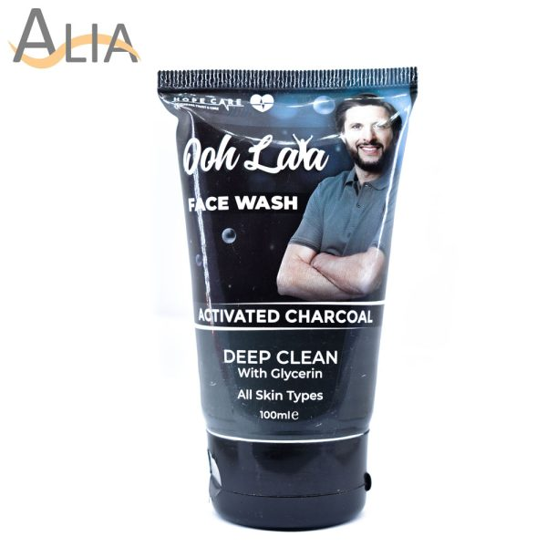 Ooh lala face wash activated charcoal deep clean with glycerin 100ml